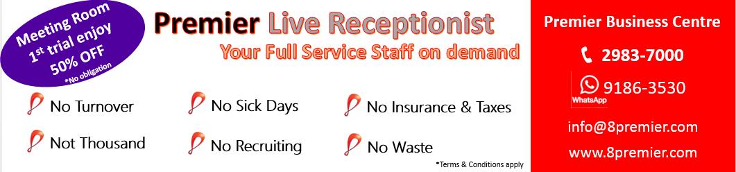 premier live receptionist